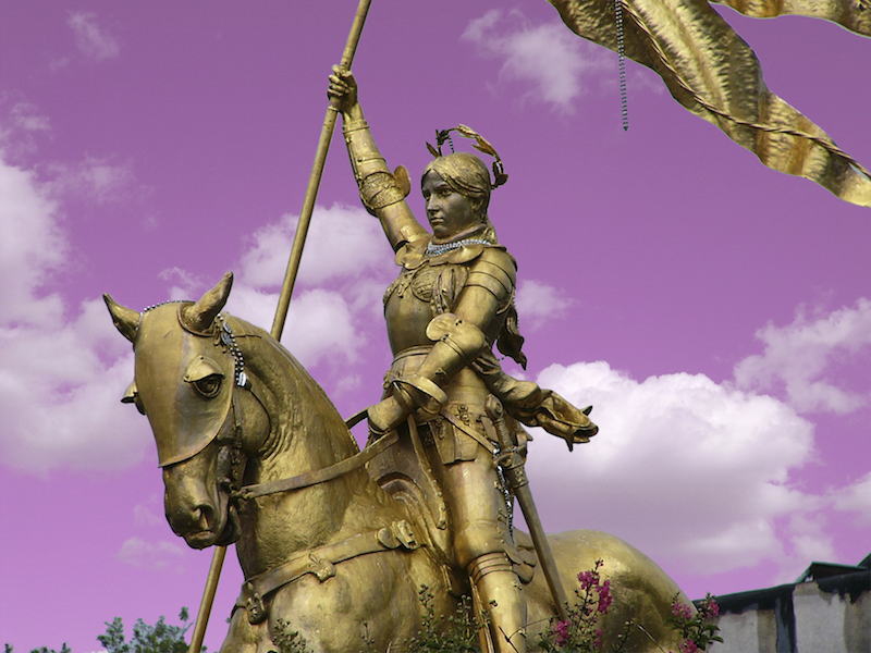 Is that really a statue of Joan of Arc or did we paint Carrie and her horse gold?