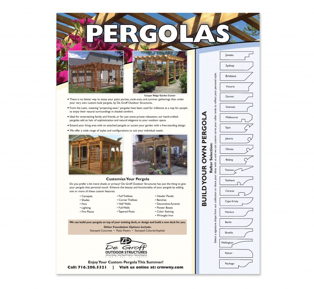 Degroff Outdoor Structures Flyer